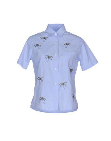 Jimi Roos   Небесно-голубой; Белый Мужская рубашка JIMI ROOS плотная ткань   Clouty