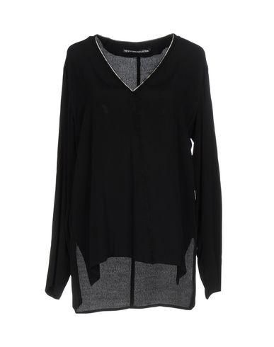 New York Industrie | Черный Женская черная блузка NEW YORK INDUSTRIE креп | Clouty