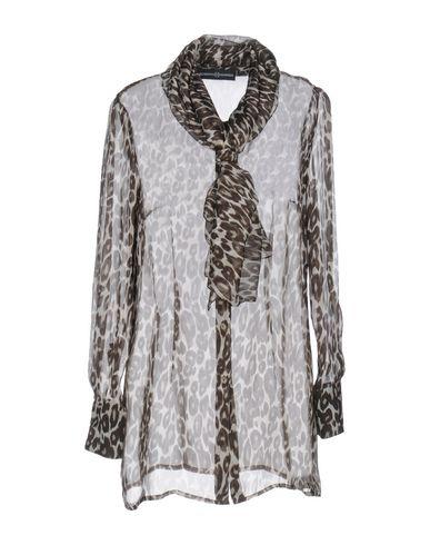 Roberto Quaglia | Темно-коричневый Женская темно-коричневая рубашка ROBERTO QUAGLIA муслин | Clouty