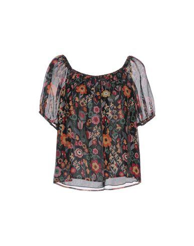 VALENTINO RED | Черный Женская черная блузка REDValentino креп | Clouty