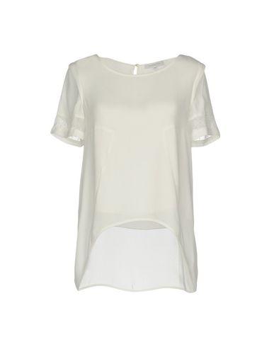 Patrizia Pepe | Белый; Черный Женская белая блузка PATRIZIA PEPE креп | Clouty