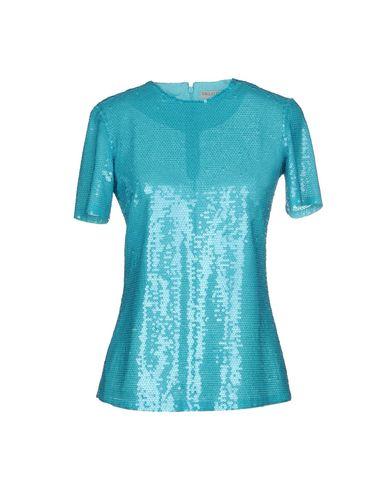 Emilio Pucci | Бирюзовый; Кислотно-зеленый Женская бирюзовая блузка EMILIO PUCCI тюль | Clouty