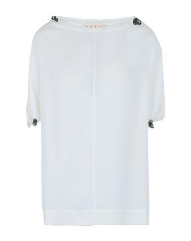 Marni   Белый Женская белая блузка MARNI шелк-кади   Clouty