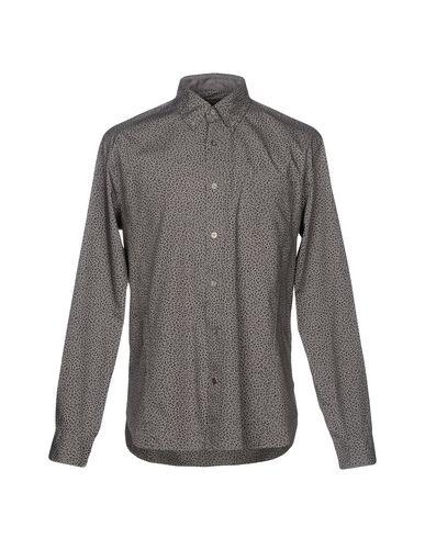 John Varvatos Star USA | Свинцово-серый Мужская рубашка JOHN VARVATOS ★ U.S.A. плотная ткань | Clouty