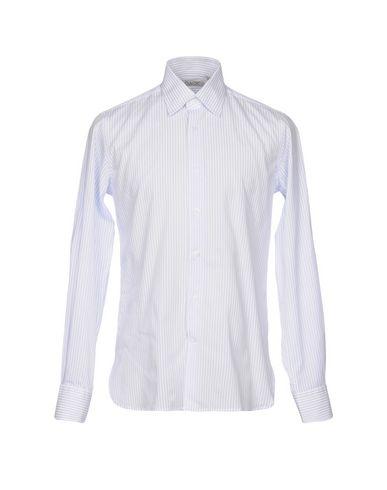ALV Andare Lontano Viaggiando   Небесно-голубой; Лазурный Мужская рубашка ALV ANDARE LONTANO VIAGGIANDO плотная ткань   Clouty
