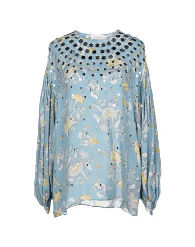 Zimmermann | Небесно-голубой Женская блузка ZIMMERMANN креп | Clouty