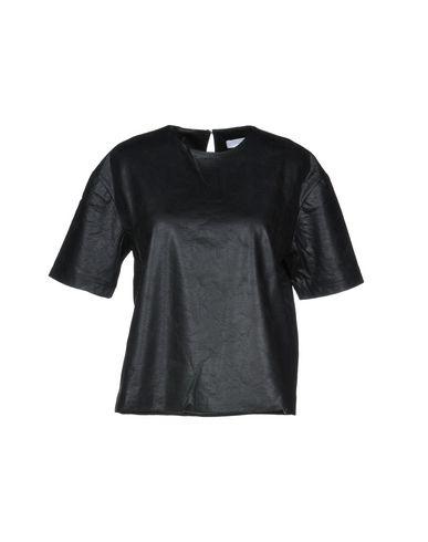 Anonyme Designers | Черный Женская черная блузка ANONYME DESIGNERS Искусственная кожа | Clouty