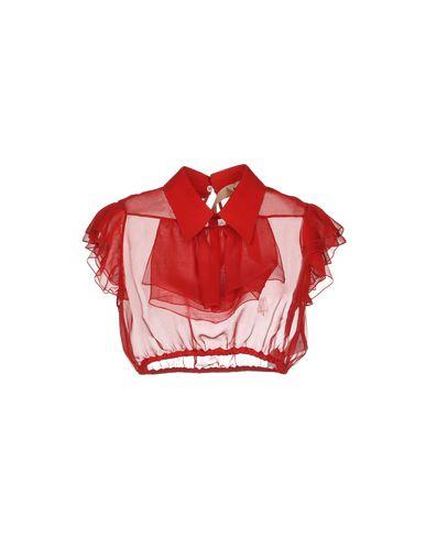 No. 21 | Красный Женская красная блузка N°21 креп | Clouty