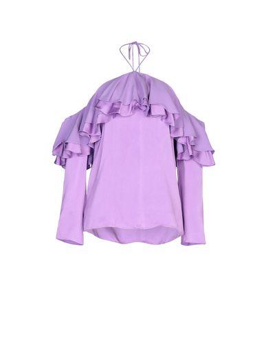 Emilio Pucci | Сиреневый; Черный Женская сиреневая блузка EMILIO PUCCI шелк-кади | Clouty