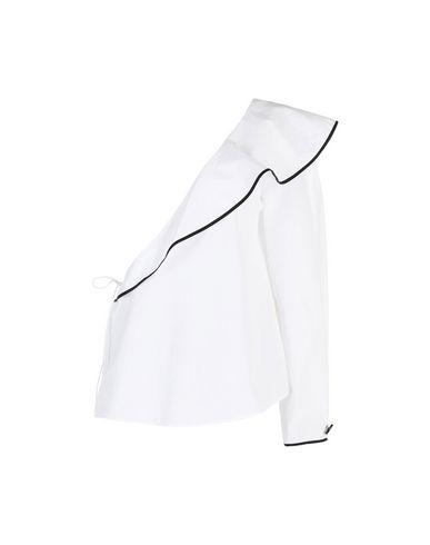 Diane Von Furstenberg | Белый Женская белая блузка DIANE VON FURSTENBERG плотная ткань | Clouty