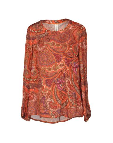 Souvenir | Оранжевый; Охра Женская оранжевая блузка SOUVENIR Атлас | Clouty