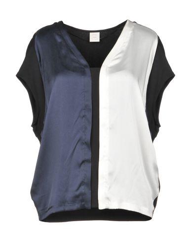 PINKO | Темно-синий Женская темно-синяя блузка PINKO атлас | Clouty