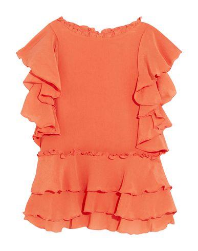 Apiece Apart | Оранжевый; Черный Женская оранжевая блузка APIECE APART креп | Clouty