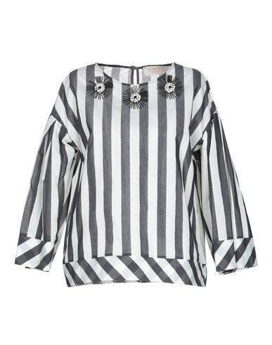 Kaos | Черный Женская черная блузка KAOS JEANS Плотная ткань | Clouty