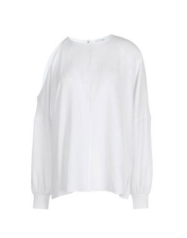 TIBI | Белый Женская белая блузка TIBI креп | Clouty