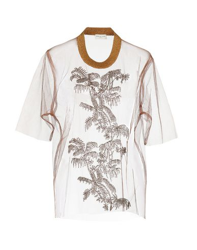 Dries Van Noten   Коричневый Женская коричневая блузка DRIES VAN NOTEN тюль   Clouty