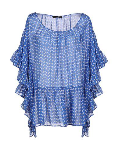 .Tessa | Лазурный Женская лазурная блузка .TESSA плотная ткань | Clouty