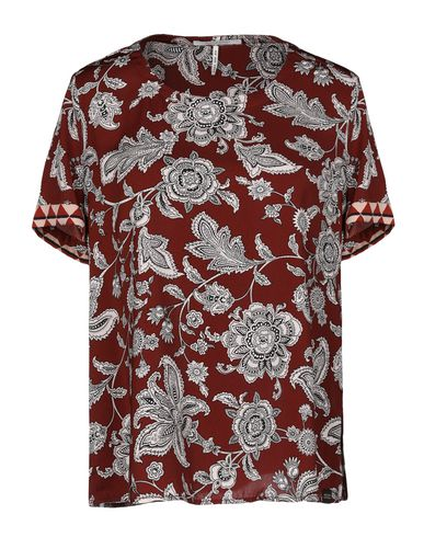 Maison Scotch | Красно-коричневый Женская блузка MAISON SCOTCH атлас | Clouty
