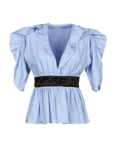 Manoush | Небесно-голубой Женская блузка MANOUSH атлас | Clouty