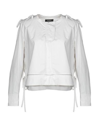Isabel Marant | Светло-серый Женская светло-серая блузка ISABEL MARANT плотная ткань | Clouty