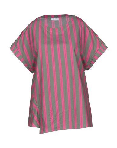 Rosso35 | Серый Женская серая блузка ROSSO35 плотная ткань | Clouty
