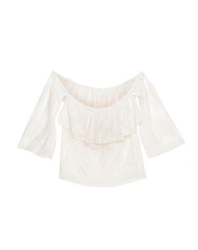 Souvenir | Бежевый Женская бежевая блузка SOUVENIR кружево | Clouty