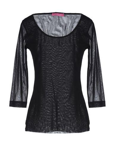 Anathea By Parakian | Черный Женская черная футболка ANATHEA by PARAKIAN тюль | Clouty