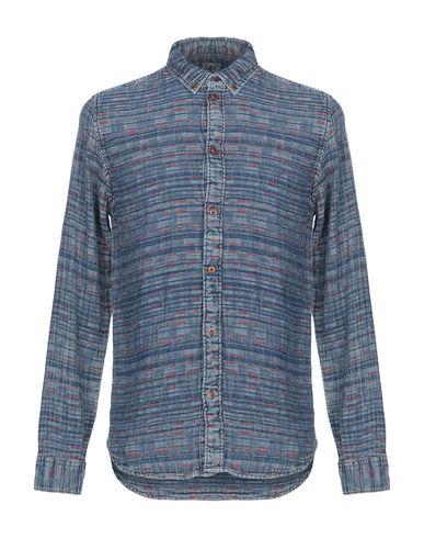 Pepe Jeans Heritage | Темно-синий Мужская темно-синяя рубашка PEPE JEANS HERITAGE плотная ткань | Clouty