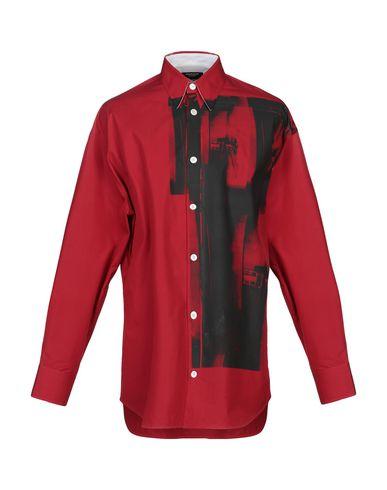 Calvin Klein | Красный Мужская красная рубашка CALVIN KLEIN 205W39NYC Плотная ткань | Clouty
