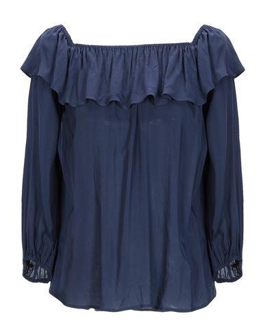 Velvet By Graham & Spencer | Темно-синий Женская темно-синяя блузка VELVET by GRAHAM & SPENCER плотная ткань | Clouty