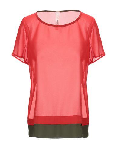 Empathie | Красный Женская красная блузка EMPATHIE креп | Clouty