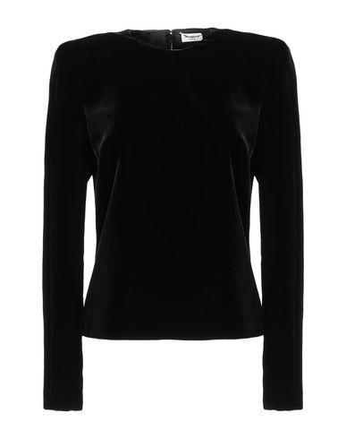 SAINT LAURENT   Черный Женская черная блузка SAINT LAURENT бархат   Clouty