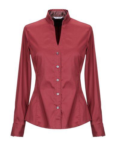 Caliban | Красно-коричневый Женская рубашка CALIBAN плотная ткань | Clouty