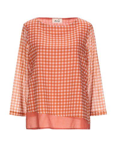 NIU   Ржаво-коричневый Женская блузка NIU плотная ткань   Clouty