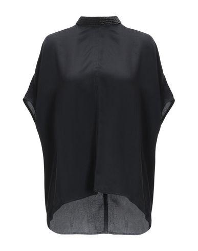 RICK OWENS | Черный Женская черная блузка RICK OWENS креп | Clouty