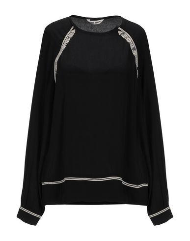 Garcia Jeans   Черный; Белый Женская черная блузка GARCIA JEANS креп   Clouty