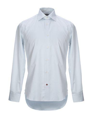Càrrel | Светло-серый Мужская светло-серая рубашка CARREL плотная ткань | Clouty