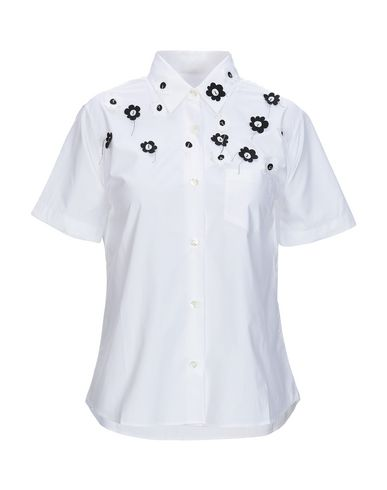 Jimi Roos | Белый Женская белая рубашка JIMI ROOS плотная ткань | Clouty