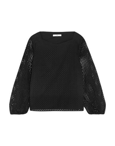 TIBI | Черный Женская черная блузка TIBI плотная ткань | Clouty