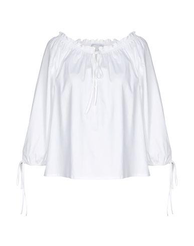 Patrizia Pepe | Белый; Темно-синий Женская белая блузка PATRIZIA PEPE поплин | Clouty
