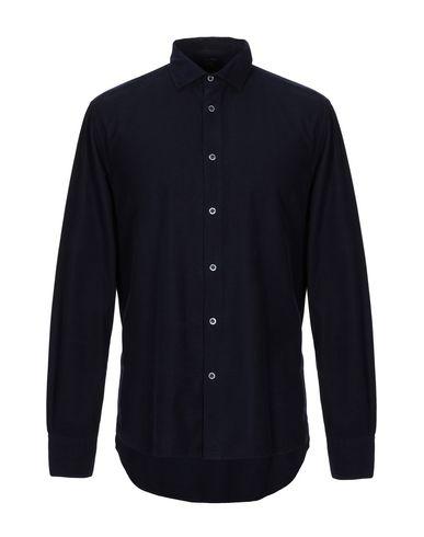 Fradi | Темно-синий Мужская темно-синяя рубашка FRADI бархат | Clouty
