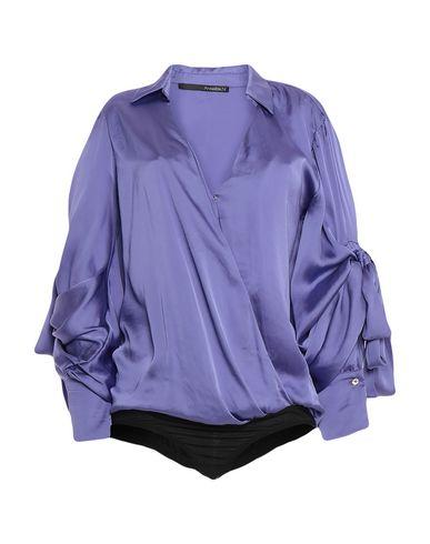 Annarita N | Фиолетовый Женская фиолетовая блузка ANNARITA N атлас | Clouty