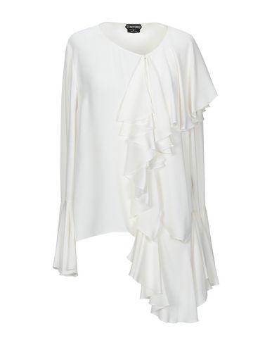Tom Ford | Белый Женская белая блузка TOM FORD креп | Clouty