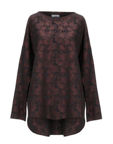 Alberto Biani | Какао; Темно-синий Женская блузка ALBERTO BIANI жаккардовая ткань | Clouty
