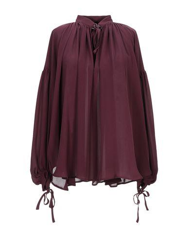 Plein Sud | Красно-коричневый Женская блузка PLEIN SUD креп | Clouty
