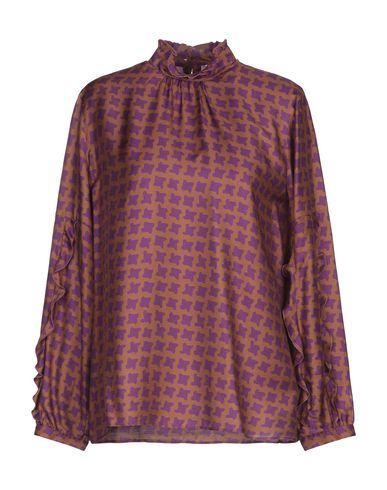 Caliban | Ржаво-коричневый Женская блузка CALIBAN атлас | Clouty