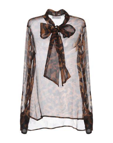 Alberto Biani | Коричневый Женская коричневая блузка ALBERTO BIANI шифон | Clouty