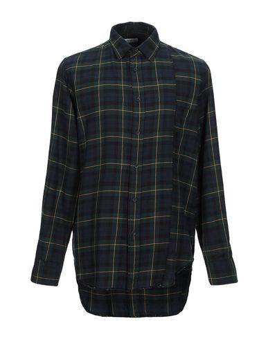 Grifoni | Темно-зеленый; Охра Мужская темно-зеленая рубашка MAURO GRIFONI плотная ткань | Clouty