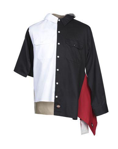 DICKIES | Черный Мужская черная рубашка DICKIES габардин | Clouty