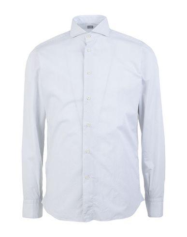 Fradi   Белый Мужская белая рубашка FRADI плотная ткань   Clouty